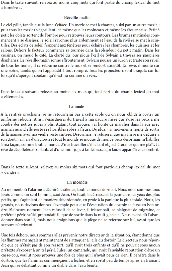 French_Vocabulary_Exercise_6
